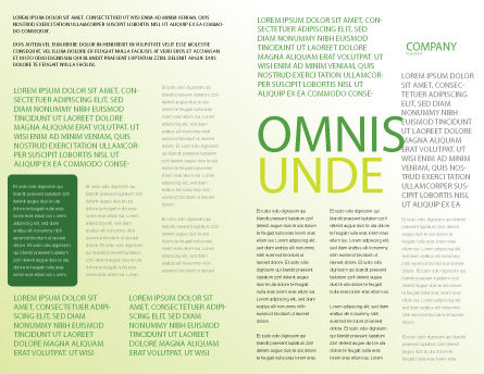 Green Theme Brochure Template Inner Page