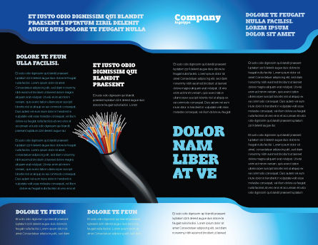 Blue Optic Fibers Brochure Template Inner Page
