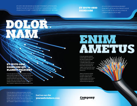 Blue Optic Fibers Brochure Template Outer Page
