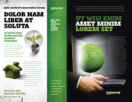 Green Solutions Brochure Template, Outer Page, 07063, Global — PoweredTemplate.com