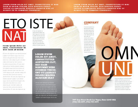 Foot Plaster Brochure Template Outer Page