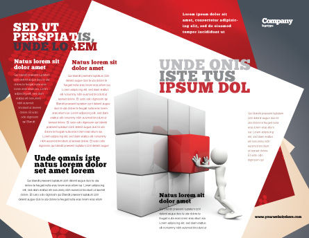 Fitting the Part Brochure Template, Outer Page, 07093, Consulting — PoweredTemplate.com