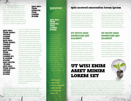 Olive Lamp Brochure Template Inner Page