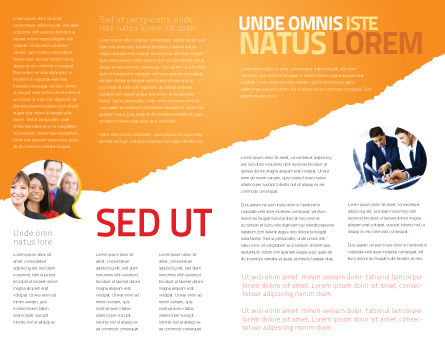 Teamwork Principles Brochure Template Inner Page