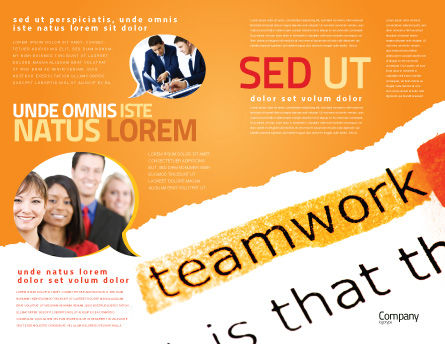 Teamwork Principles Brochure Template Outer Page