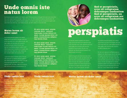 Racial Unity Brochure Template, Inner Page, 07178, Religious/Spiritual — PoweredTemplate.com
