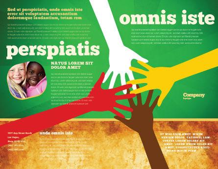 Racial Unity Brochure Template, Outer Page, 07178, Religious/Spiritual — PoweredTemplate.com