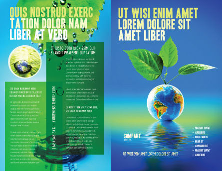 Fertile Earth Brochure Template Outer Page