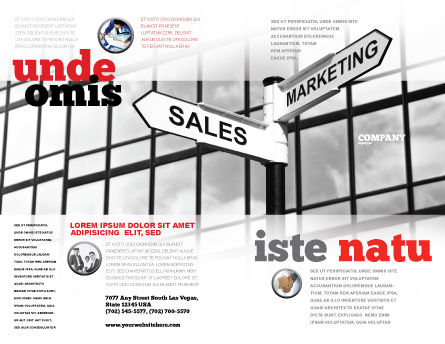 Marketing and Sales Brochure Template, Outer Page, 07207, Careers/Industry — PoweredTemplate.com