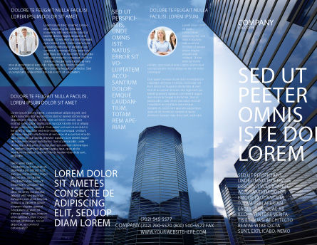 Business Center In Downtown Brochure Template Outer Page