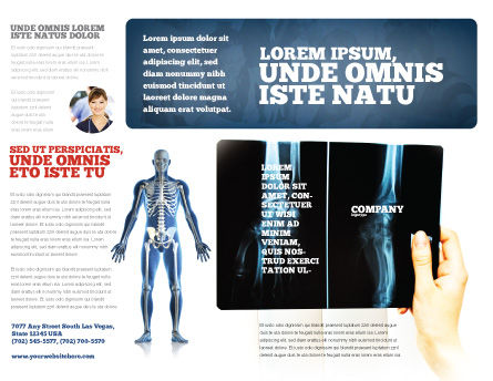 X-Ray Photography Brochure Template, Outer Page, 07221, Medical — PoweredTemplate.com