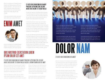 Peoples Unity Brochure Template, Inner Page, 07271, Consulting — PoweredTemplate.com