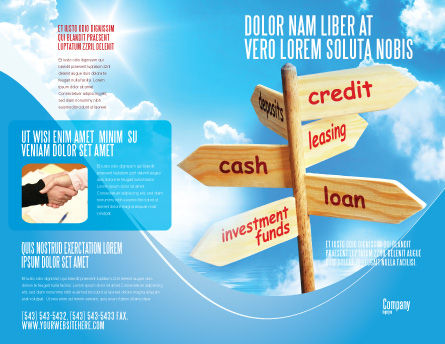 Credits and Loans Brochure Template, Outer Page, 07279, Financial/Accounting — PoweredTemplate.com