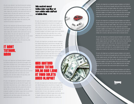 Transportation Of Money Brochure Template, Inner Page, 07281, Cars/Transportation — PoweredTemplate.com