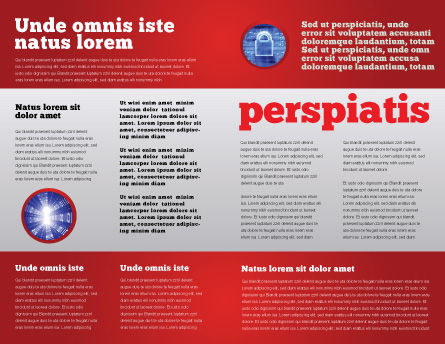 Computer Crimes Brochure Template, Inner Page, 07286, Legal — PoweredTemplate.com