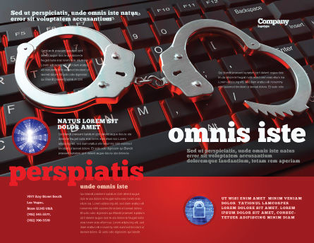Computer Crimes Brochure Template, Outer Page, 07286, Legal — PoweredTemplate.com