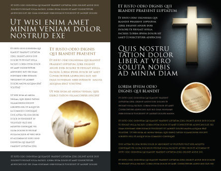Cross In The Dark Brochure Template, Inner Page, 07291, Religious/Spiritual — PoweredTemplate.com