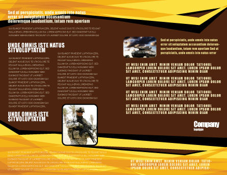 Machine Gun Brochure Template, Inner Page, 07308, Military — PoweredTemplate.com