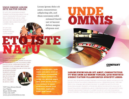 Roulette Brochure Template, Outer Page, 07325, Careers/Industry — PoweredTemplate.com