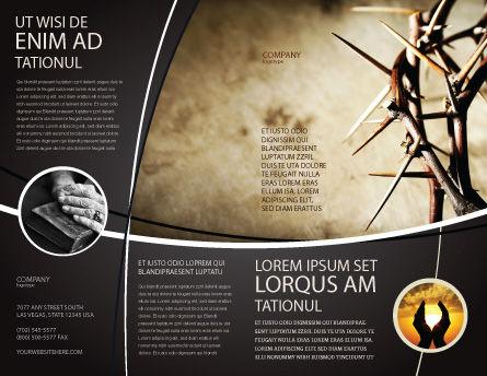 Thorns Brochure Template, Outer Page, 07326, Religious/Spiritual — PoweredTemplate.com