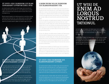 Social Network Scheme Brochure Template Inner Page