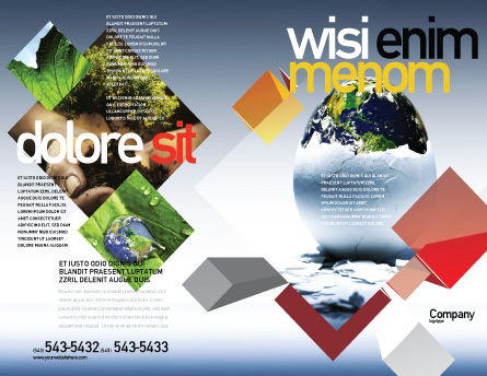 Earth Egg Brochure Template Outer Page