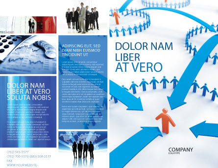 Group Connections Brochure Template, Outer Page, 07447, Telecommunication — PoweredTemplate.com
