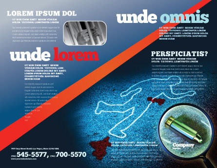 Crime Scene Investigation Brochure Template Outer Page