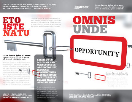 Key Opportunity Brochure Template, Outer Page, 07495, Consulting — PoweredTemplate.com