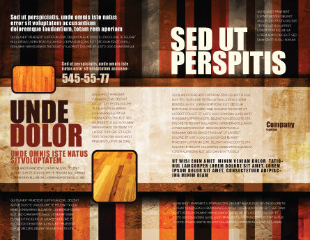Abstract Bars Brochure Template, Outer Page, 07512, Abstract/Textures — PoweredTemplate.com
