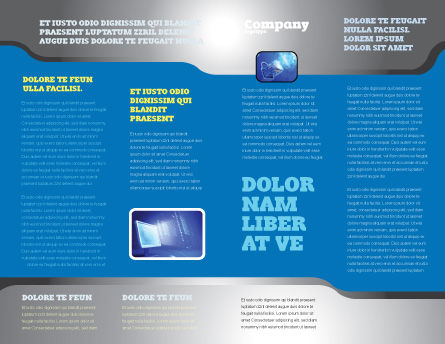 Communication Stream Brochure Template Inner Page