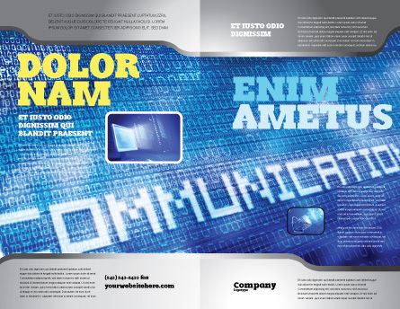 Communication Stream Brochure Template Outer Page