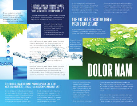 Blue Water Brochure Template, Inner Page, 07546, Nature & Environment — PoweredTemplate.com