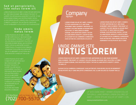 Students Team Brochure Template, Inner Page, 07551, Careers/Industry — PoweredTemplate.com