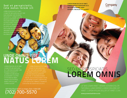 Students Team Brochure Template, Outer Page, 07551, Careers/Industry — PoweredTemplate.com