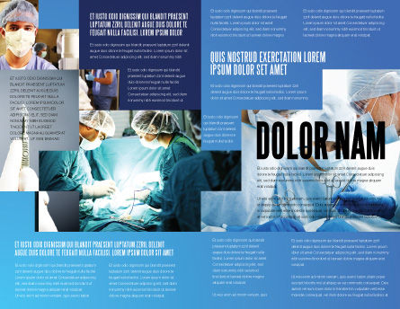 Operation Room In Dark Blue Brochure Template, Inner Page, 07560, Medical — PoweredTemplate.com
