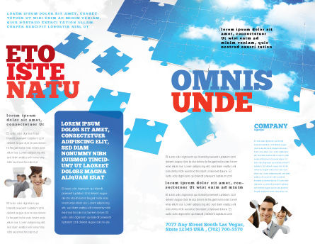 Sky Puzzle Brochure Template, Outer Page, 07563, Consulting — PoweredTemplate.com