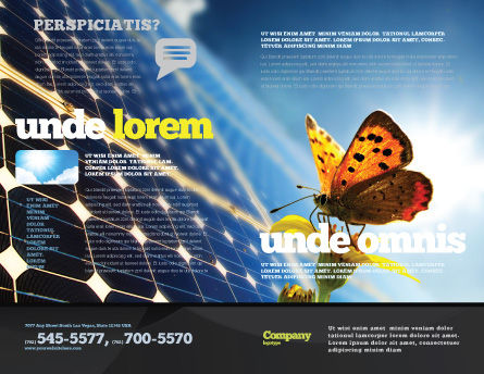Solar Power Brochure Template Outer Page