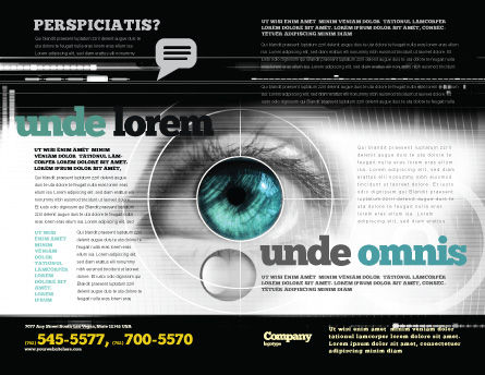 Selection of Contact Lenses Brochure Template, Outer Page, 07585, Technology, Science & Computers — PoweredTemplate.com