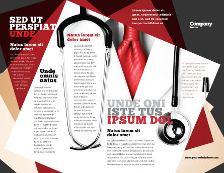 Rigorous Doctor Brochure Template, Outer Page, 07594, Medical — PoweredTemplate.com