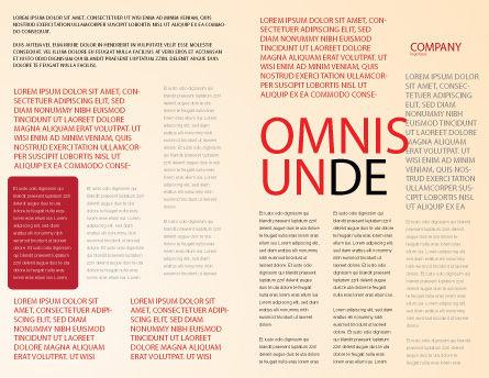 Design Materials Brochure Template, Inner Page, 07596, Abstract/Textures — PoweredTemplate.com