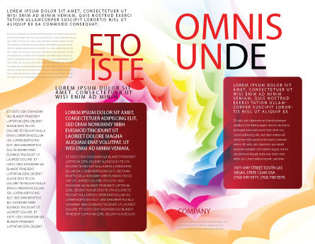 Design Materials Brochure Template, Outer Page, 07596, Abstract/Textures — PoweredTemplate.com