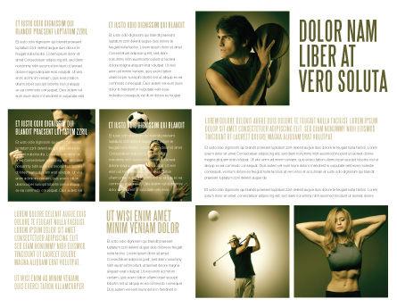 Sport Activities Brochure Template, Inner Page, 07597, People — PoweredTemplate.com