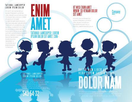 Little Children Brochure Template, Outer Page, 07607, Education & Training — PoweredTemplate.com