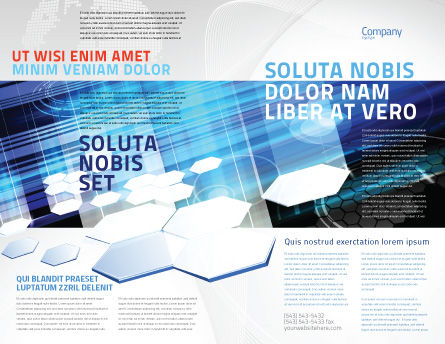 Solar Panels Brochure Template, Outer Page, 07609, Technology, Science & Computers — PoweredTemplate.com