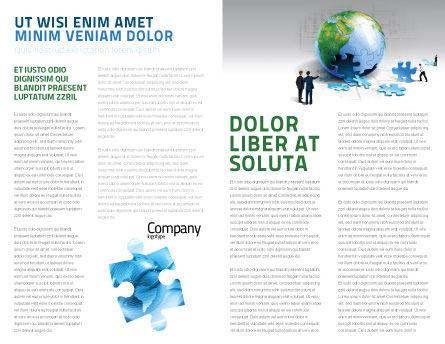 Finalization Of Jigsaw World Brochure Template, Inner Page, 07611, Global — PoweredTemplate.com