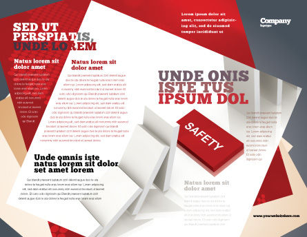 Safety Domino Theme Brochure Template, Outer Page, 07633, Business Concepts — PoweredTemplate.com