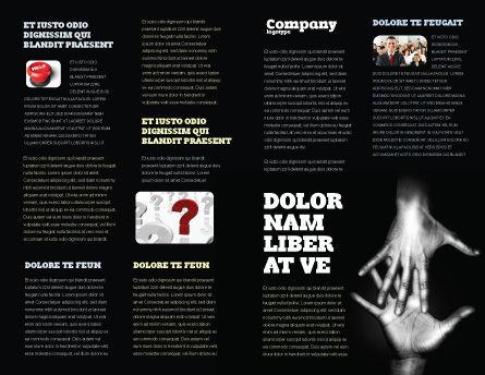 Reaching Hands Brochure Template, Inner Page, 07634, Religious/Spiritual — PoweredTemplate.com