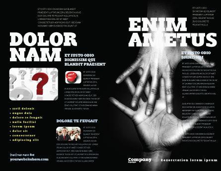 Reaching Hands Brochure Template, Outer Page, 07634, Religious/Spiritual — PoweredTemplate.com