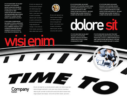 Time to Win Brochure Template, Inner Page, 07651, Consulting — PoweredTemplate.com